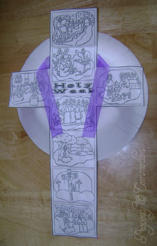 Holy Week Cross Craft | Commotion from the Ocean of Life ...
