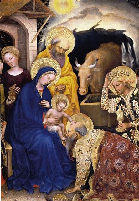 Nativity Gentile de Fabriano. Detalle