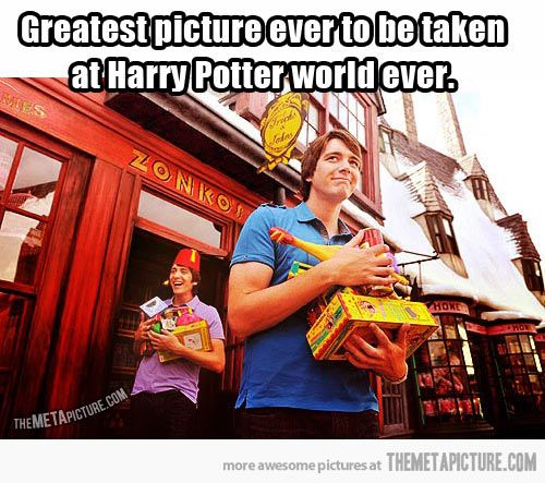 Fred and George. Oliver and James. I don't care, but I've freaking been there!