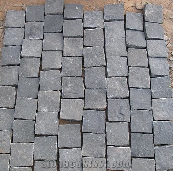 Basalt Paving Stone Basalt Cube Cobble Stone