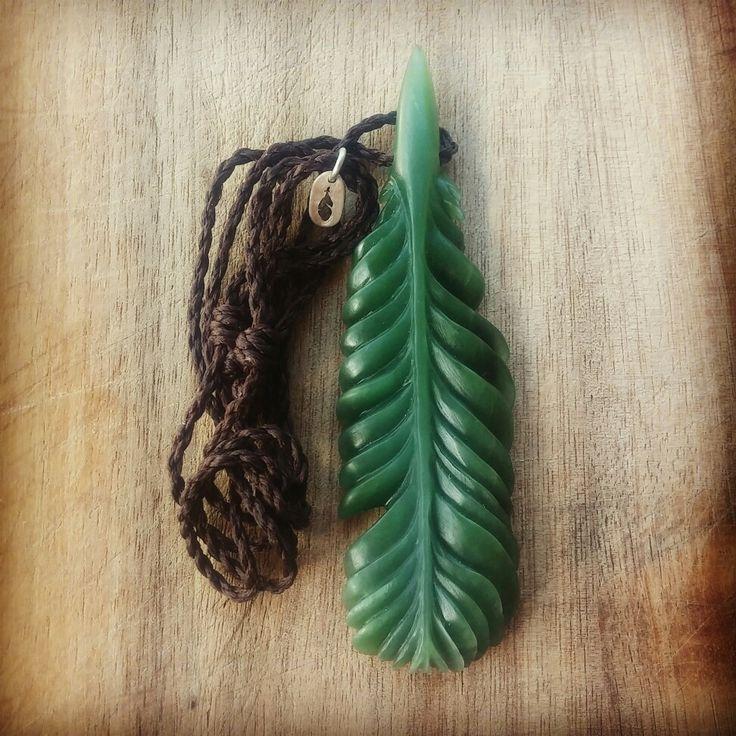 Another feather. Pounamu/ NZ Jade