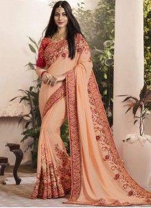 Buy Adorning Patch Border Work Classic Designer Saree