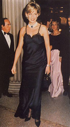 December, 1996: Princess Diana and Liz Tilberis during The Costume Institute Gala Honors at the Metropolitan Museum of Art in New York City.