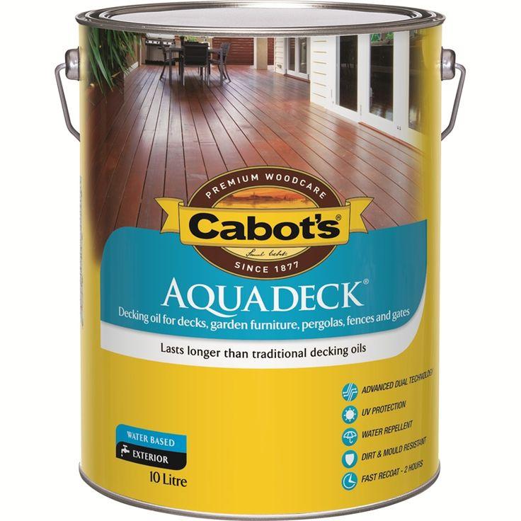 Cabots Aquadeck 10L Merbau Exterior Decking Oil $165