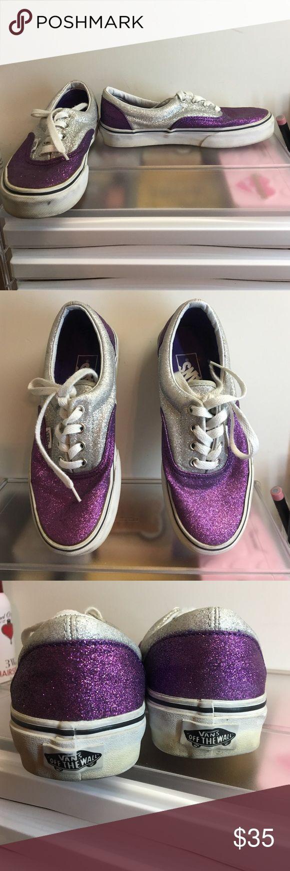 Purple & Silver Glitter Vans Glitter Vans! Lots of wear but still in amazing condition! ❤️20% off all bundles❤️ Vans Shoes Sneakers