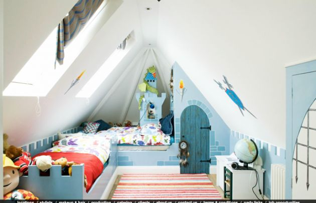so cute castle theme : 30 Attractive Green Kids Room Designs