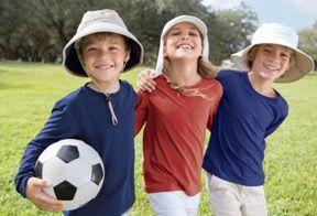 Coolibar zon beschermende zon hoeden voor kinderen van alle UPF 50 + voor een totale UV-stralen beschermen.