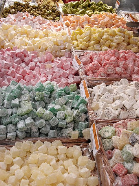 Turkish Delight candy for sale in Turkey, Istanbul. In the story, Edmund can't resist this delicacy!