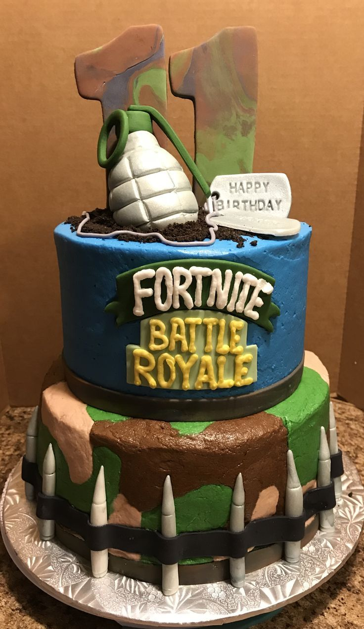 Fortnite Battle Royale Birthday Cake Zach Party In 2019 Birthday