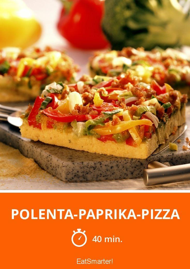 Polenta-Paprika-Pizza - smarter - Zeit: 40 Min. | eatsmarter.de