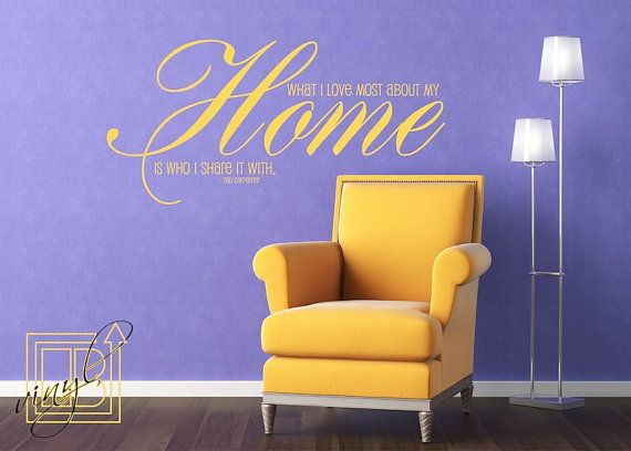 Wall Decal What I Love Most About My Home - Vinyl Wall Sticker - Word Art on Etsy, 16,56€