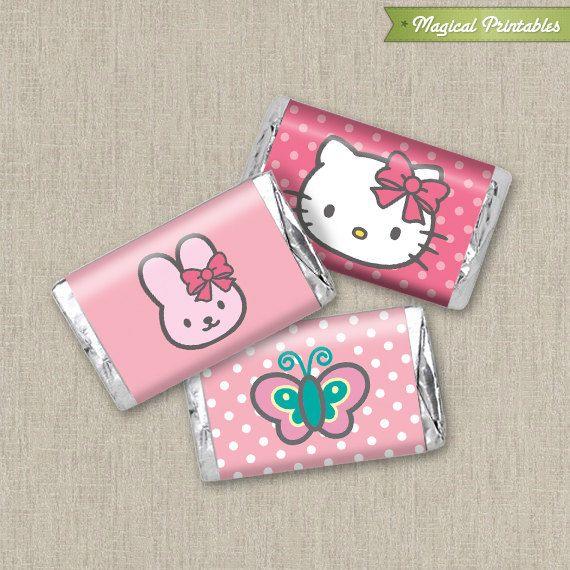 Hello Kitty Printable Birthday Mini Hershey's chocolate wrapper
