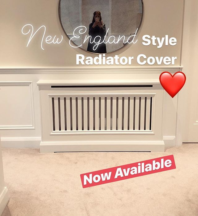 Heres one of our many styles of custom built radiator cabinets Now Available!! #newenglandstyle #recent #radiatorcover #custombuilt #offwhite #finishingtouches #shutterco #newhampshireinteriors @shutterco_nhi
