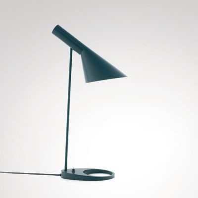 Arne Jacobsen table lamp...next to the bed