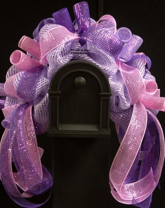 CLEARANCE Easter to Spring Mailbox Rail Purple by wreathsbyrobin