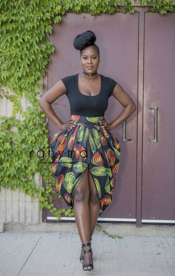 African Print Dashiki Harem Skirt Pleated Front And Back Waist With Invisible Back Zipper Excell African Print Skirt African Skirts African Fashion Designers