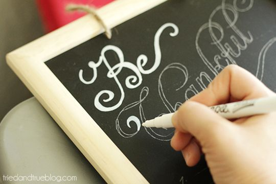 How to write perfectly on a chalkboard
