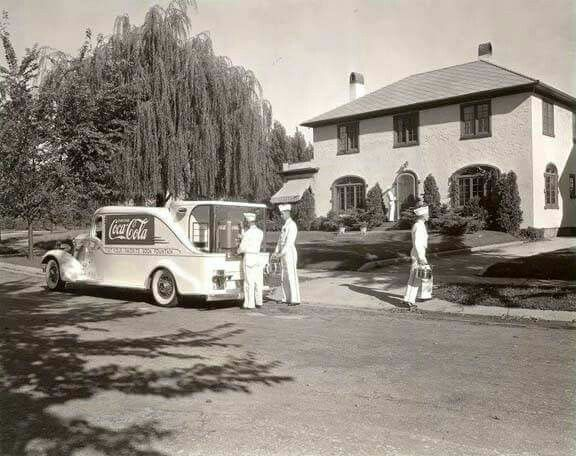 Coca Cola home delivery, 1930s