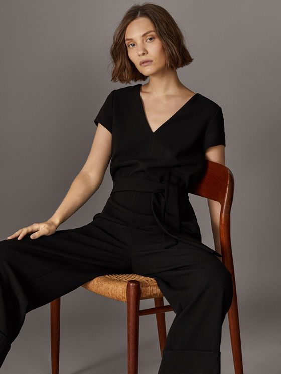 Spring Summer 2017 Women´s CHEMISIER ENTREDEUX MANCHES À VOLANTS at Massimo Dutti for 59.95. Effortless elegance!