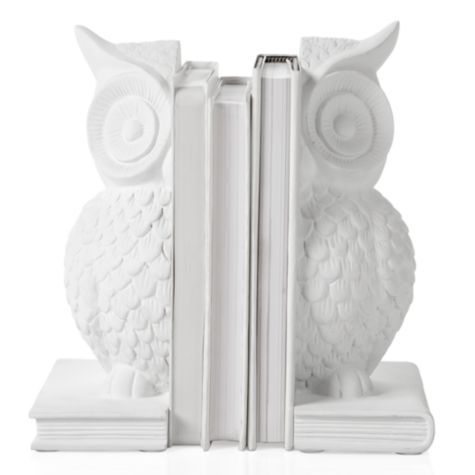 I want this for the nursery!!! Our White Owl Bookends are a