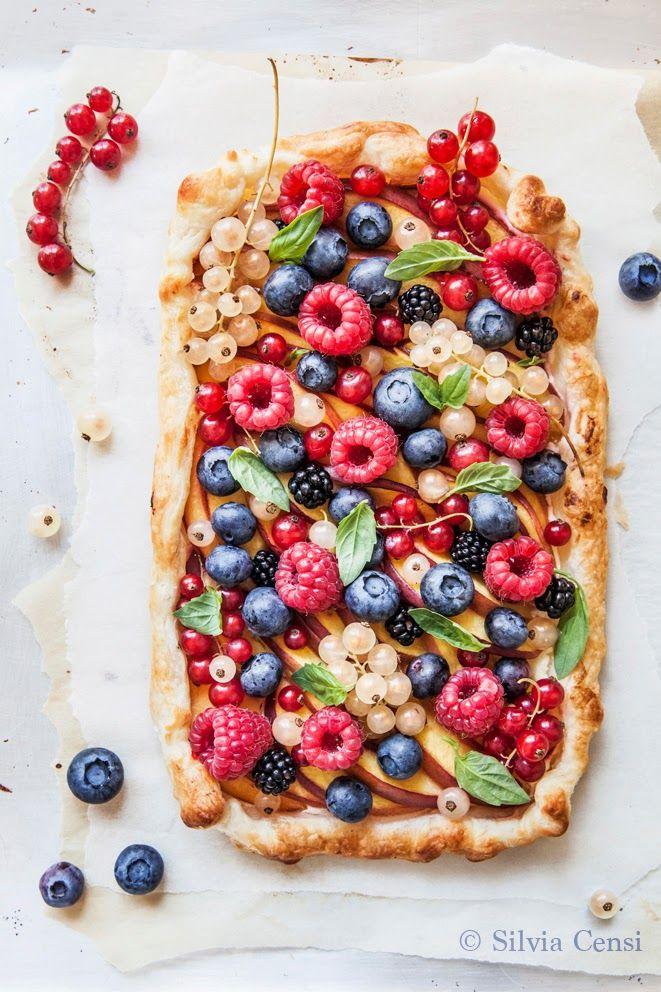 summer berry tart.