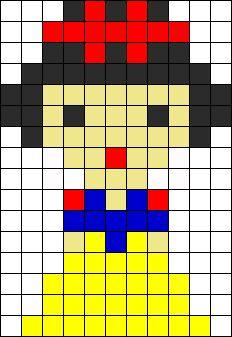 Disney Snow White perler bead pattern