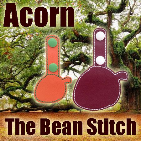 Acorn - TWO(2) Sizes Included!  #thebeanstitch #beanstitchers #TBS #ith #inthehoop #machineembroidery #felties #feltie #embroidery #digitaldownload #keyfobs #bagtag #diy #snaptab #snapbean #handmade #vinyl #felt #craft #etsy #shopsmall #embroiderygift #travel #everyday #design #multipurpose #acorn #tree #squirrel #nature #explore #keychain