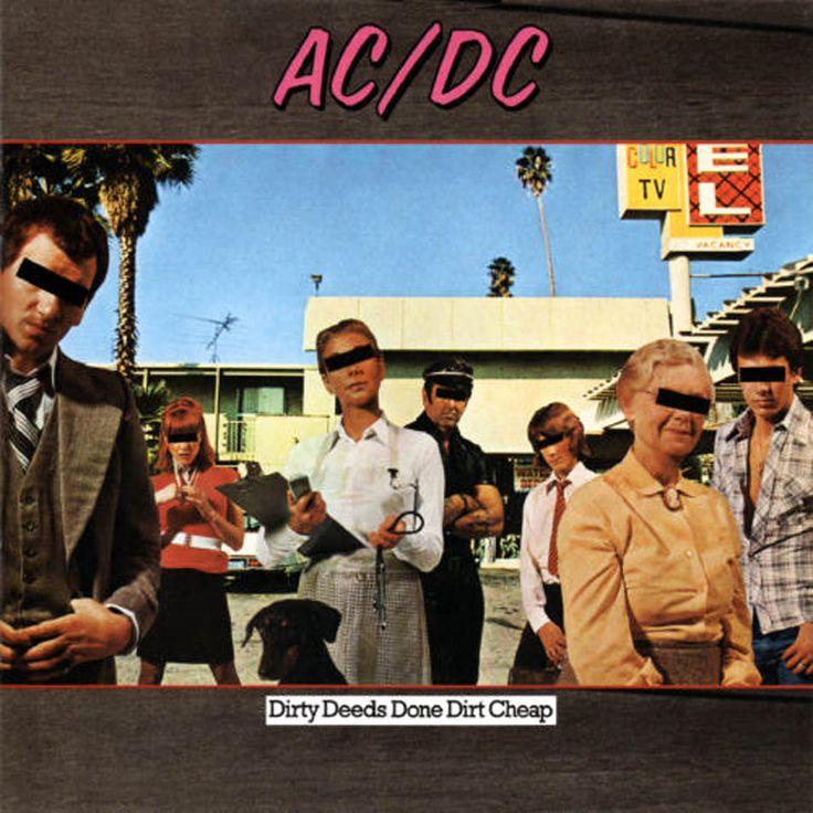 AC/DC - Dirty Deeds Done Dirt Cheap - 1976 Sleeve Design : Hypgnosis
