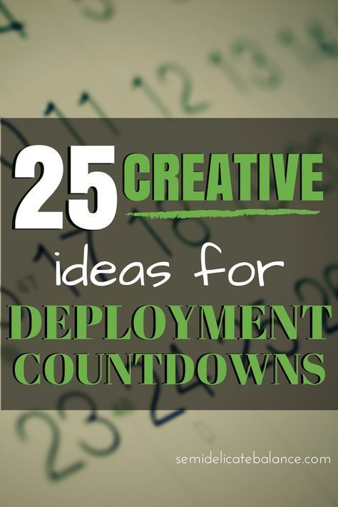 25 Creative Ideas For Deployment Countdowns, must pin for homecoming, #milspouse, military,