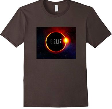 The total solar eclipse is coming to America on August 21, 2017. Get this custom shirt depicting the moon covering the sun and date to commemorate the event. Gift it to astronomers, eclipse fans, sun or lunar totality worshipers If you live in Oregon, Idaho, Wyoming, Nebraska, Missouri, Kansas, Kentucky, Tennessee, South Carolina you are in a state that is on the path of total darkness. Get this shirt to celebrate the solar eclipse.  Visit website to purchase.