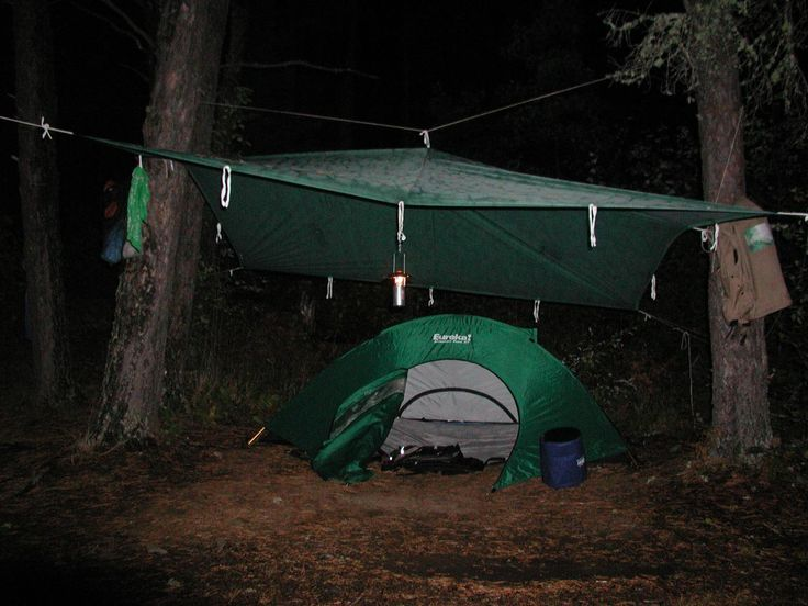 camping tarps attach to tent