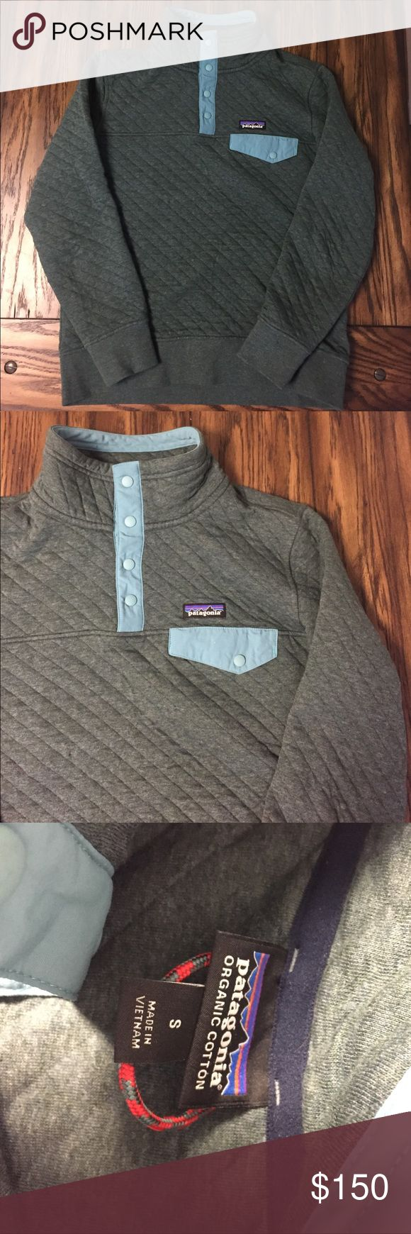 """Patagonia Women's Quilted Pullover Women's size small, could easily fit a medium or large (snug). Runs big for a small, super cute and in a beautiful """"Nouveau Green"""" you can't find anymore. Only worn once. Looks brand new! :) Patagonia Sweaters"""