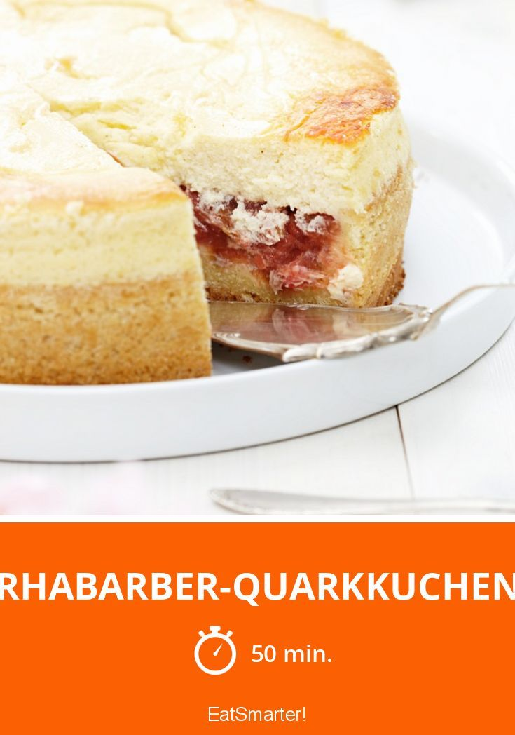 Rhabarber-Quarkkuchen - smarter - Zeit: 50 Min. | eatsmarter.de