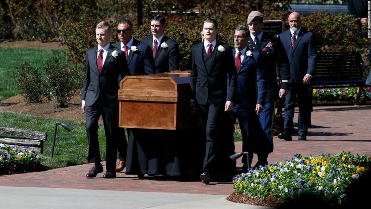 Their names were burned into the pine plywood casket Billy Graham was laid to rest on Friday.