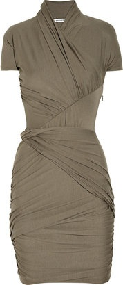 If I wore this, I bet I'd be a B-A-D chick!    Carven Ruched stretch-jersey dress