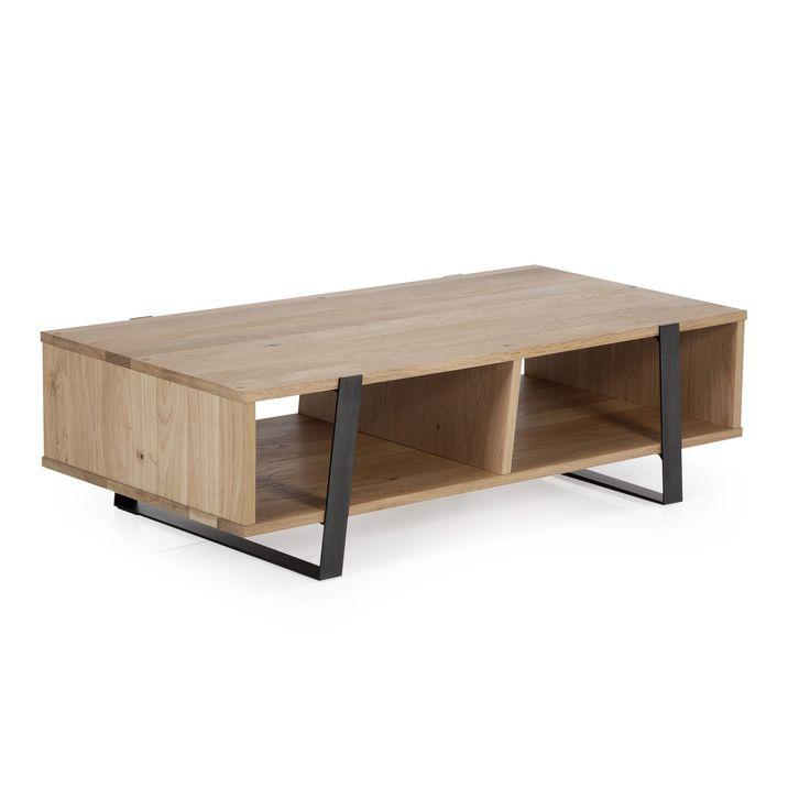 Table basse en chêne et métal Naturel - Eclypse - Les tables basses - Tables basses et bouts de canapé - Salon et salle à manger - Décoration d'intérieur - Alinéa