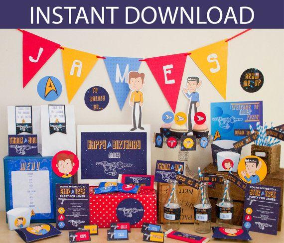 Star Trek Birthday Party DIY Printable Kit - INSTANT DOWNLOAD - Start Trek Inspired