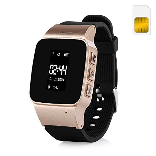 Wonlex GPS Watch for Elder the elderly with US Sim Card Color Gold ** See this great product.