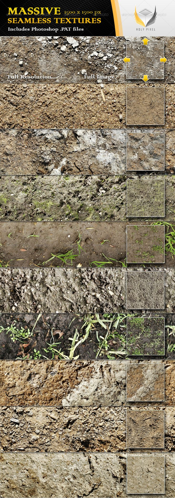 Unfinished brick wall texture for creating environment texture maps - 10 Seamless Dirt And Soil Textures