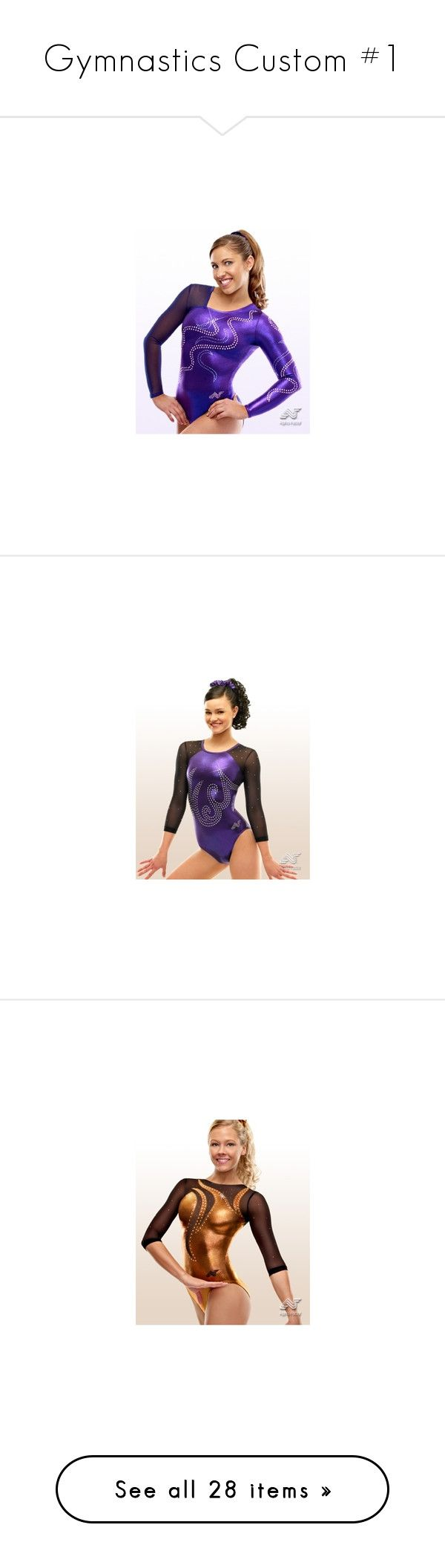 """Gymnastics Custom #1"" by lgdalaten ❤ liked on Polyvore featuring gymnastics, sports, tops, brown top, long sleeve tops, brown long sleeve top, purple long sleeve top, purple top, costumes and dance"