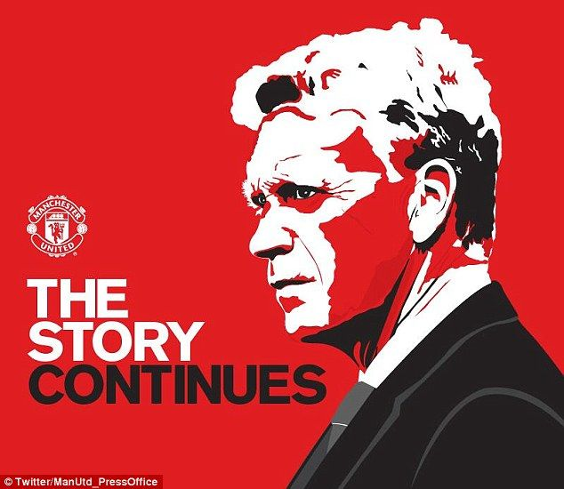 Onwards: Manchester United released this picture