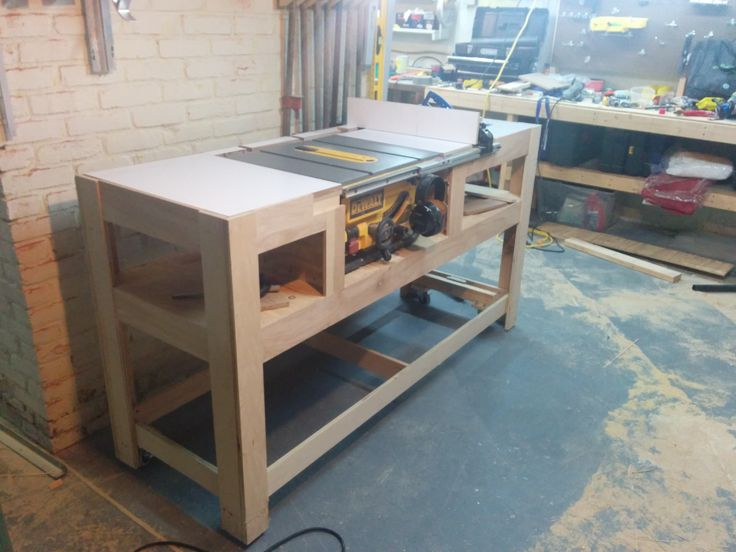 Woodworking workbench accessories woodworking projects for Table saw workbench woodworking plans