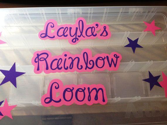 Personalized Rainbow Loom Case/Organizer by SweetSerendipityShop
