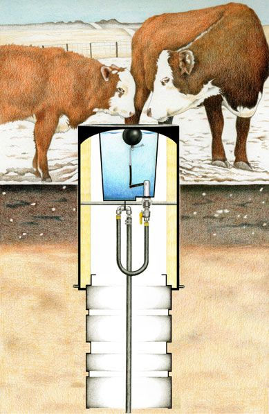 Cobett  brand Cattle Waterer no power freeze resistant