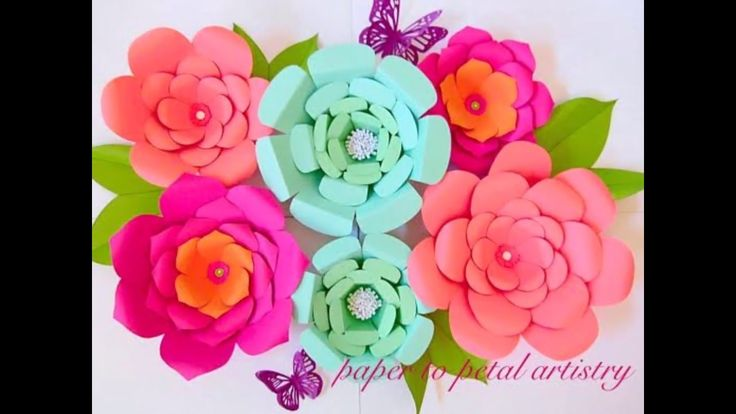 Quick look at the variety of DIY paper flowers available in the shop for instant download