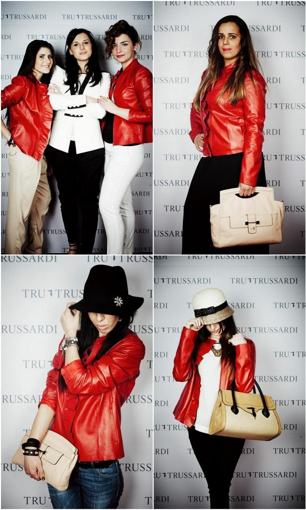 The red leather jacket #TweetYourLook with Tru Trussardi Milan Styling Set ~ The Dolls Factory