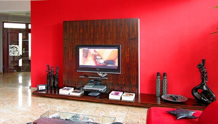 Makassar modern luxury TV wall. Modern living room idea.