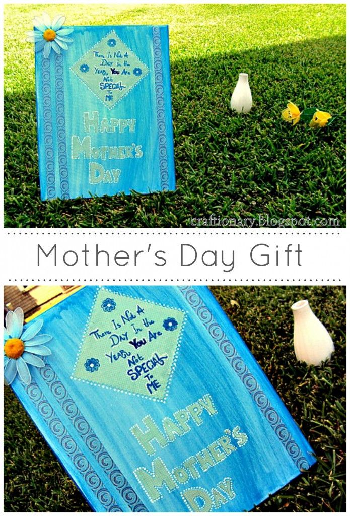 Paint and decoupage canvas- Mother's Day - Craftionary