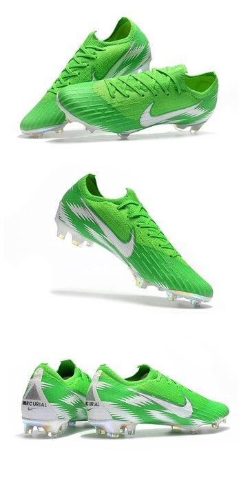 337bcac01 Nike World Cup 2018 Mercurial Vapor XII FG Boots - Green Silver ...