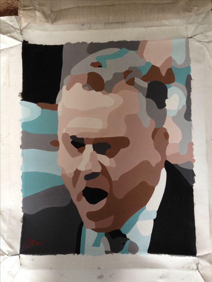 Joe Hockey oil on canvas.